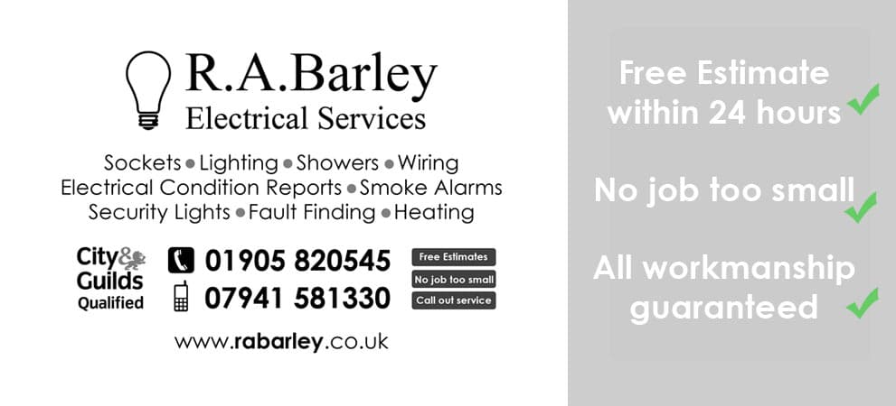 R.A.Barley Electrical services electrician worcester